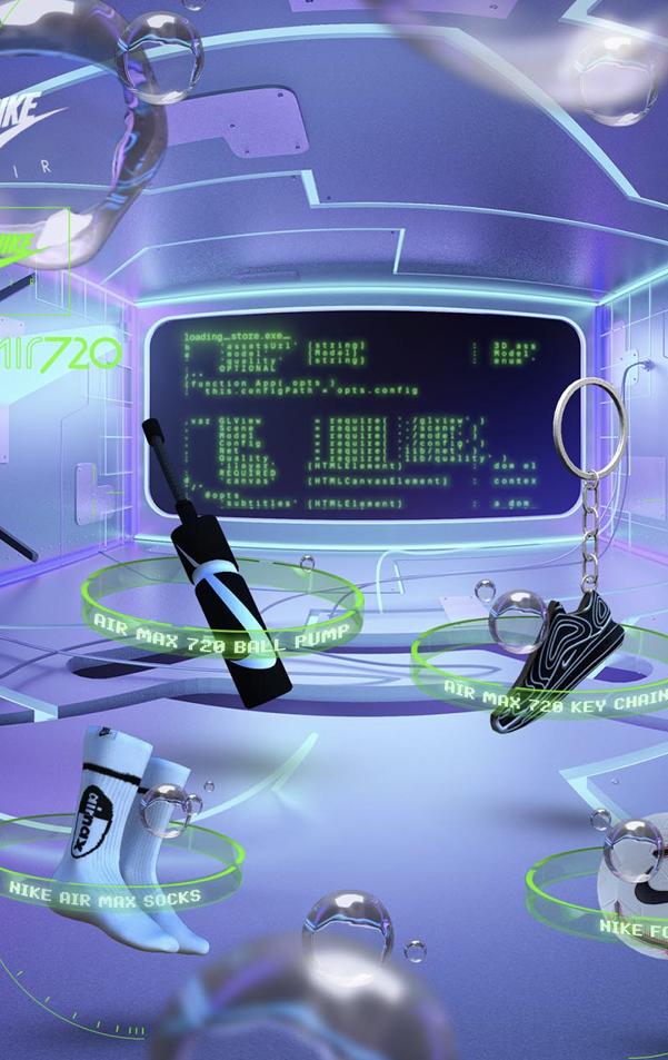 PRESENTATION Nike's virtual 720 Air Store 2